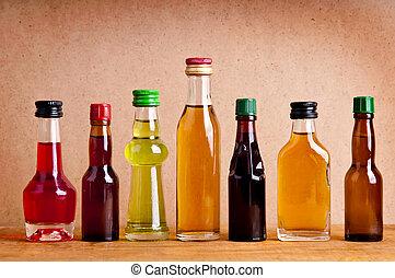 botellas, de, alcohol