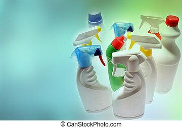 botellas, limpieza