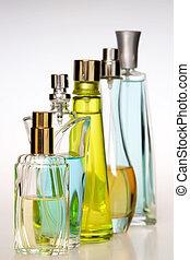 botellas, perfume