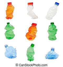 botellas, plástico