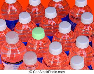 botellas, rojo