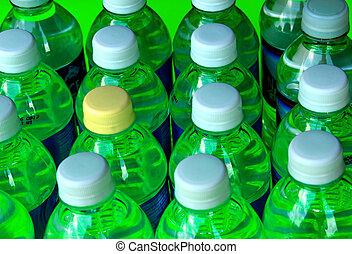 botellas, verde