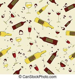 botellas, vidrio vino