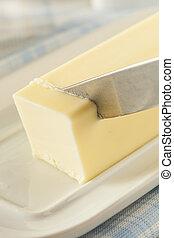 boter, organisch, melkinrichting, gele