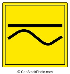 Both Direct And Alternating Current Symbol Sign Isolate On White Background,Vector Illustration EPS.10