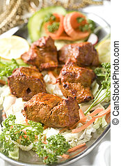 boti, kebab., indyjskie jadło