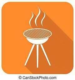 boties3_1 - Barbecue grill icon. Vector illustration