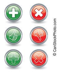 botones, abajo, arriba, brillante, pulgares