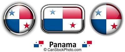 botones, bandera de panamá