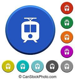 botones, biselado, tranvía