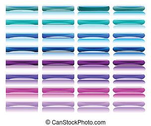 botones, brillante, colorido