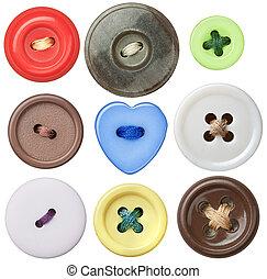 botones, costura
