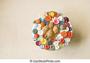 botones, decoración, colección