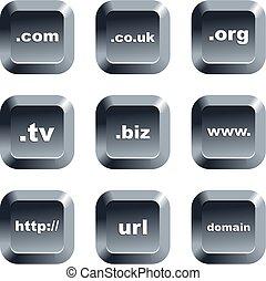 botones, dominio
