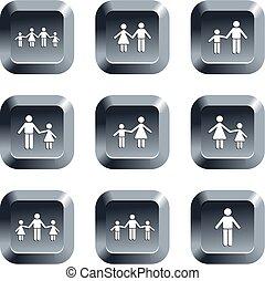 botones, familia