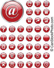 botones, iconos de la tela