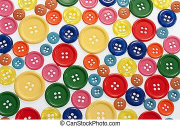 botones, marco, lleno
