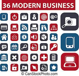 botones, moderno, 36, empresa / negocio
