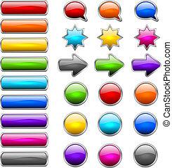 botones, moderno