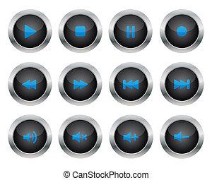 botones, multimedia