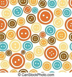 botones, patrón, colorido, seamless, plano de fondo