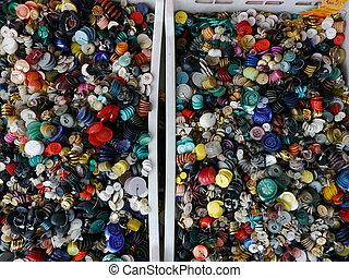 botones, persona de color de multi