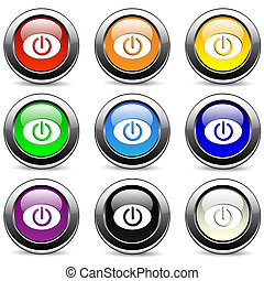 botones, potencia
