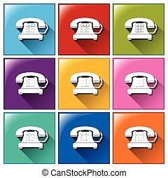 botones, teléfono