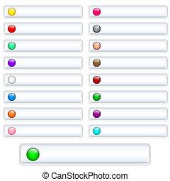 botones, tela, blanco