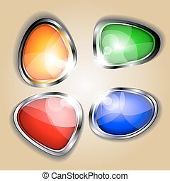 botones, tela, brillante