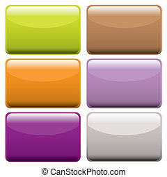 botones, tela, colorido, oblongo