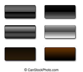 botones, tela, rectangular