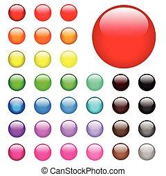 botones, tela, redondo