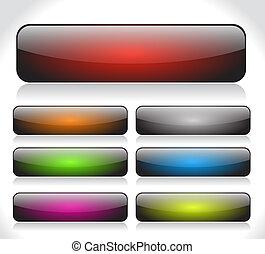 botones, tela,  vector