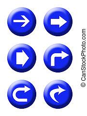 botones, tráfico, direccional