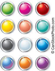 botones, vector, multicolor