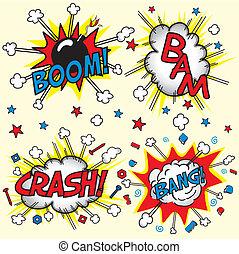 "botsing, ""boom"", bam, bang!"