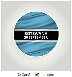 Botswana 30 September Waving Flag circle button