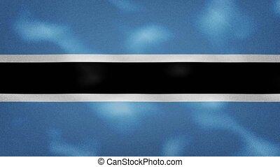 Botswana dense flag fabric wavers, perfect loop for background