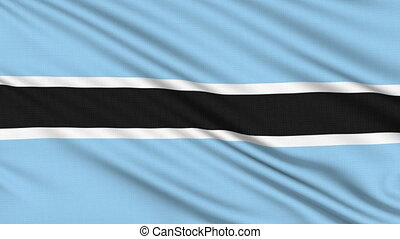 Botswana Flag, with real structure of a fabric