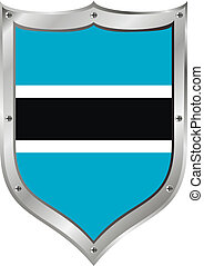 Botswana flag button.