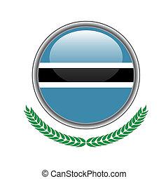 botswana flag button. botswana flag icon. Vector illustration of botswana flag on white background.