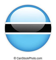 Botswana flag button