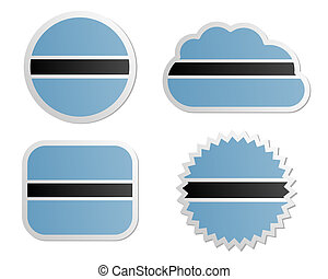 Botswana flag labels