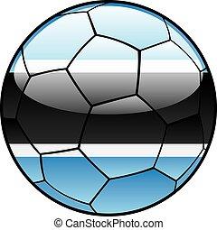Botswana flag on soccer ball