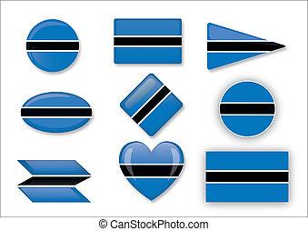 Botswana flag set