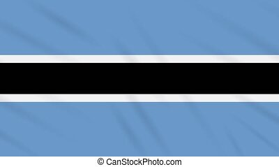 Botswana flag waving cloth, ideal for background, loop
