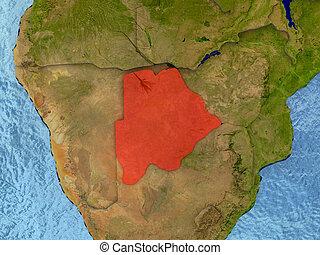 Botswana in red
