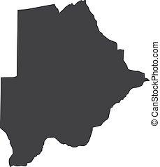 Botswana map in black on a white background. Vector illustration
