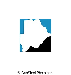 botswana map logo icon vector symbol